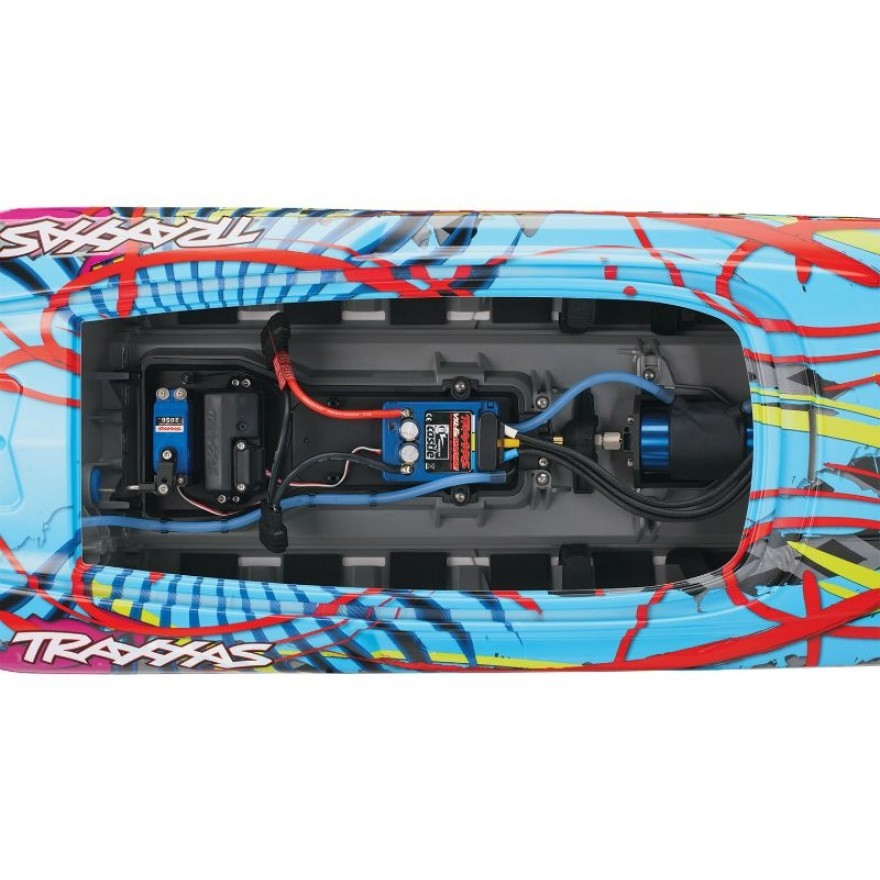 TRAXXAS DCB M41 weiß/orange 40Zoll ohne Akku/Lader BL-Catamaran-Renn-Boot Brushless