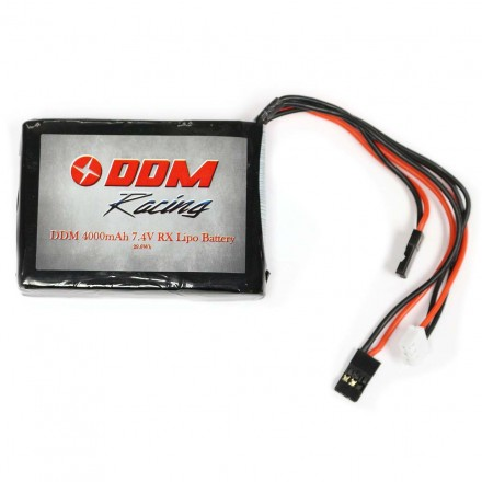 DDM Racing 7.4v 4000mAh RX LiPo Battery for HPI Baja 5B/5T/5SC
