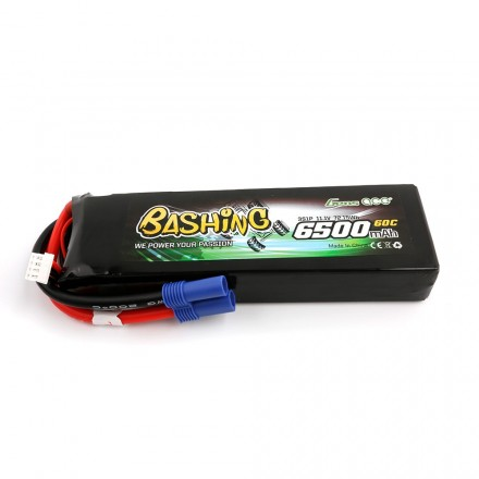 Gens ace 6500mAh 11.1V 60C 3S1P Lipo Battery Pack with EC5-Bashing Series