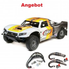 1/5 5ive-T 2.0 4wd SCT Gas BND: Grey/Orange/White (LOS05014T2) mit Reso nach Wahl