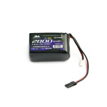 AM Lipo 2800mAh 2S RX 7.4V Hump Pack ARROWMAX